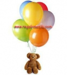 Teddy bear and Balloons Bouquet