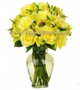 Large Yellow Rose vase