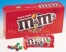 M&M Peanut Butter Chocolate Candies Packs 24CT Box