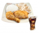 2-pc Chinese Style Fried Chicken with Rice and Drink